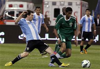 Mideast Saudi Argentina Soccer Friendly