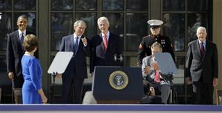 Barack Obama, George W. Bush, George H.W. Bush, Bill Clinton, Jimmy Carter