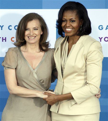 Michelle Obama, Valrie Trierweiler