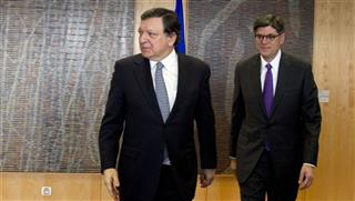 Jacob Lew, Jose Manuel Barroso