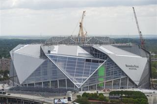 Atlanta Stadium Roof Football