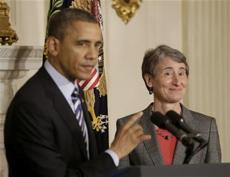 Barack Obama, Sally Jewell,