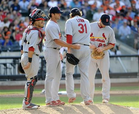Yadier Molina, David Freese, Mike Matheny, Lance Lynn