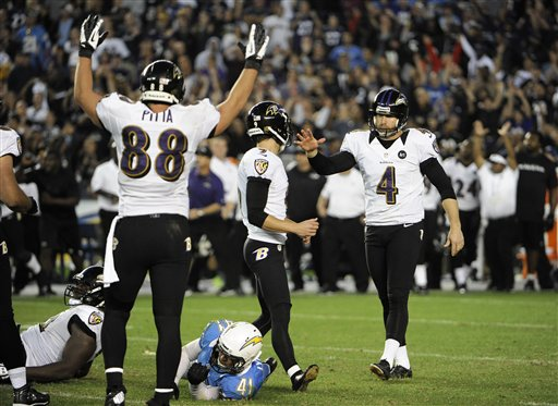 Justin Tucker, Sam Koch, Dennis Pitta