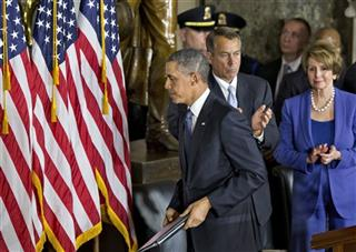 Barack Obama, John Boehner, Nancy Pelosi