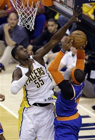 Roy Hibbert, Carmelo Anthony