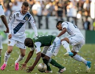 Darlington Nagbe, David Beckham, A.J. DeLaGarza