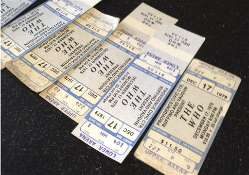 The Who Old Tickets