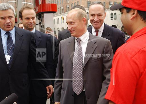 Associated Press Finance & Business New York United States Domestic US RUSSIA PUTIN