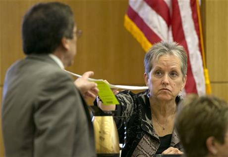 Jodi Arias listens during her trial at Maricopa County Superior Court