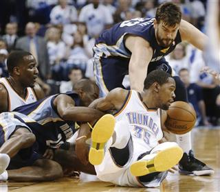 Kendrick Perkins, Quincy Pondexter, Marc Gasol, Kevin Durant
