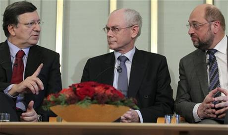 Herman Van Rompuy,  Jose Manuel Barroso, Martin Schulz