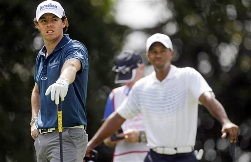 Rory McIlroy, Tigers Woods
