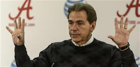 Alabama Saban Presser Monday for Auburn