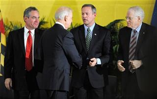 "Joe Biden, Martin O'Malley, Ronald Weich, William E. ""Brit"" Kirwan"