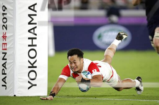 APTOPIX Japan Rugby WCup Japan Scotland