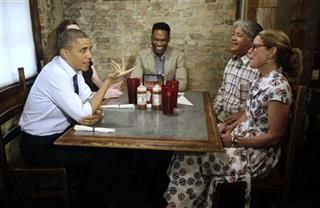 Barack Obama, Caroline Sweet, Tyson Simmons, Joe Alonzo, Agnes Wommack