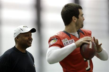 Joe Flacco, Jim Caldwell