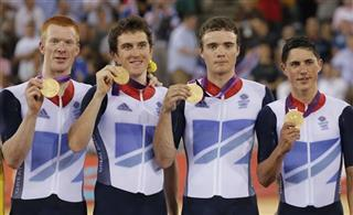 Edward Clancy, Geraint Thomas, Steven Burke, Peter Kennaugh