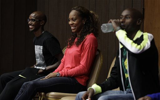 Mo Farah, Sanya Richards-Ross, Bernard Lagat