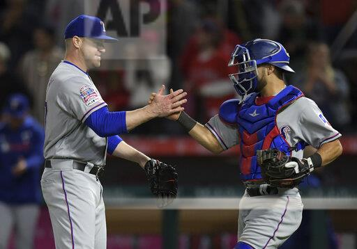 MLB: MAY 24 Rangers at Angels