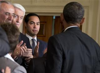 Barack Obama, Julian Castro, Thomas Donohue, William Bratton