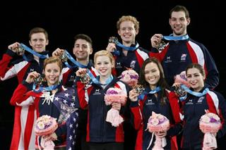 Ashley Wagner, Gracie Gold, Madison Chock, Marissa Castelli, Jeremy Abbot, Max Aaron, Evan Bates, Simon Shnapir