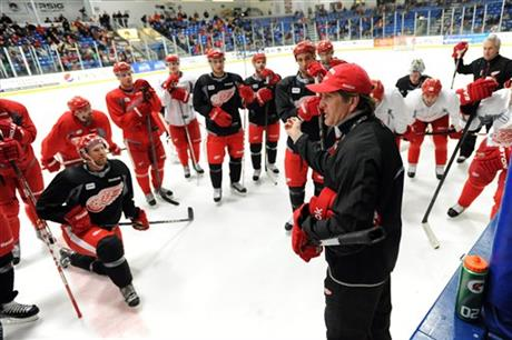 NHL Labor Red Wings Camp Hockey