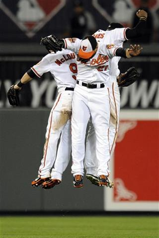 Nick Markakis, Adam Jones, Nate McLouth