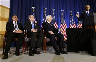 Barack Obama, Richard Lugar, Sam Nunn