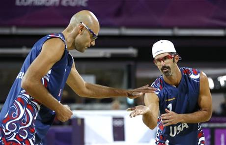 Todd Rogers, right, and Phil Dalhausser
