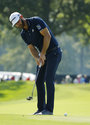 Dustin Johnson putts on the second green during the second round of the PGA Championship golf tournament at Bellerive Country Club, Friday, Aug. 10, 2018, in St. Louis. (AP Photo/Charlie Riedel)