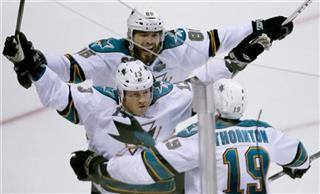 Raffi Torres Joe Thornton Bret Burns