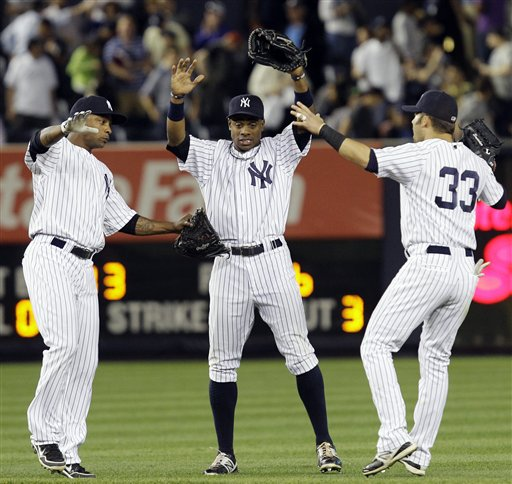 Dewayne Wise, Curtis Granderson, Nick Swisher