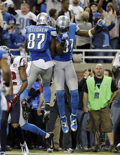 Brandon Pettigrew, Calvin Johnson