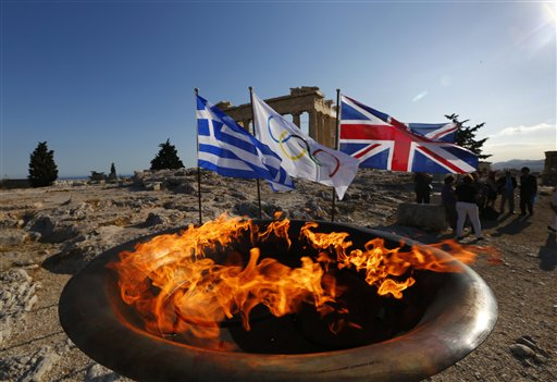 Greece Olympics London Flame