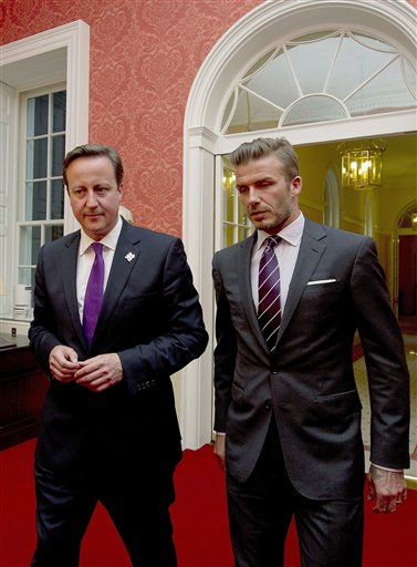 Beckham meets PM over food summit