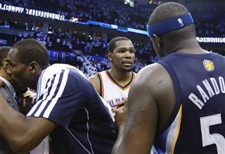 Serge Ibaka, Kevin Durant, Zach Randolph