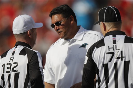 Ron Rivera, Derick Bowers, John Parry
