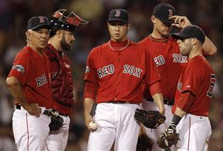 Bobby Valentine, Kelly Shoppach, Junichi Tazawa, Will Middlebrooks, Dustin Pedroia