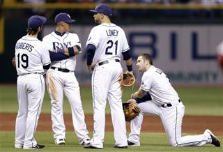 Ryan Roberts, Yunel Escobar, Evan Longoria, James Loney