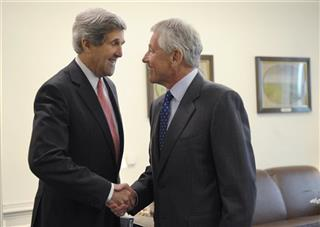 Chuck Hagel, John Kerry