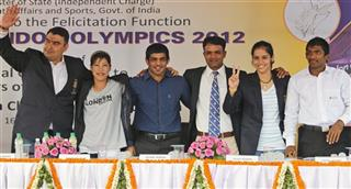 Gagan Narang, MC Mary Kom, Sushil Kumar, Vijay Kumar, Saina Nehwal, Yogeshwar Dutt 