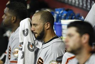Justin Christian, Pablo Sandoval, Brandon Belt