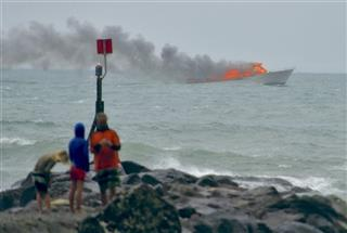 New Zealand Boat Fire