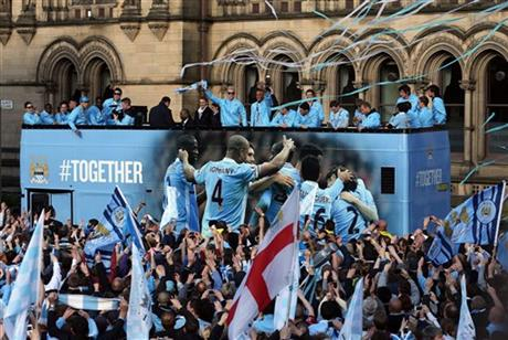 Britain Manchester City Parade