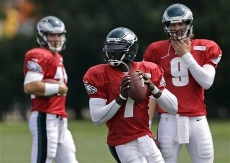 Michael Vick,  Trent Edwards,  Nick Foles