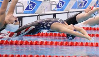 Beijing Olympics Swimming Womens 200M Backstroke