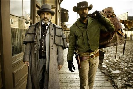 Christoph Waltz Jamie Foxx Django Unchained