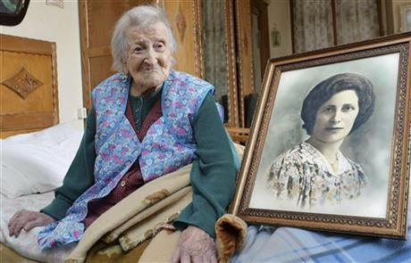 APTOPIX Italy World's Oldest Person